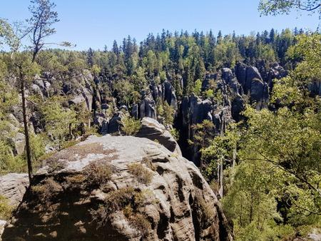 Utsikt over deler av klippebyen