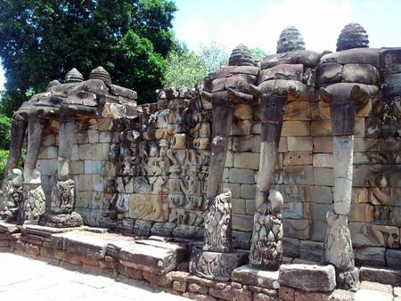 Elefant-terrassen i Angkor Thom