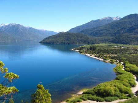 Lago Puelo i Argentinsk Pategonia