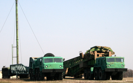 Lastebiler for utskytning av raketter