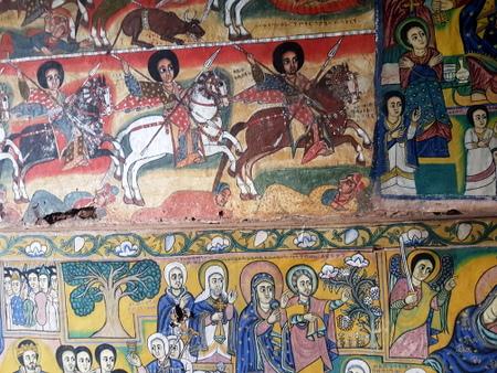 Interiør i kloster ved Tanasjøen