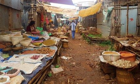 Lokalt marked i Bahir Dar