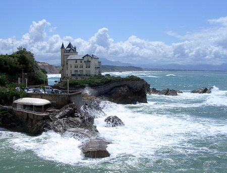 Kysten i Biarritz