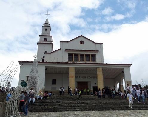 Kirken på toppen av Monserrate
