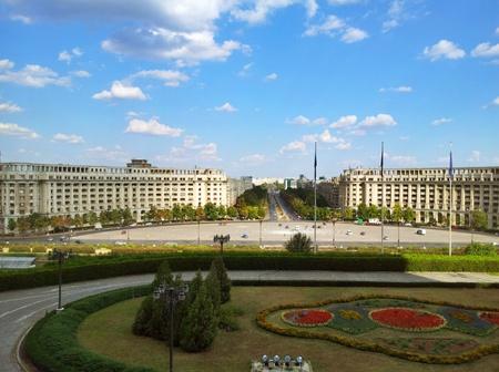 Utsikt fra balkongen i Parlamentspalasset