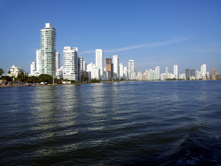 Mange skyskrapere på Bocagrande