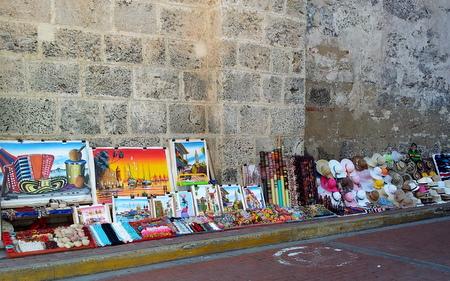 Suvenirer til salgs i Cartagena
