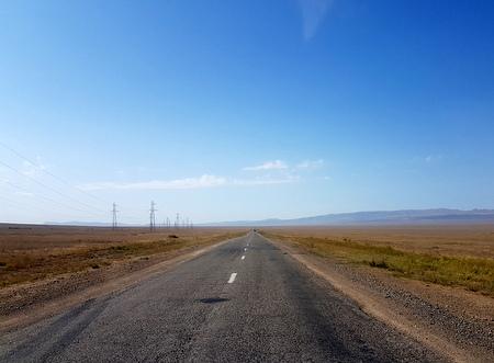Ikke det mest spennende landskapet på vei fra Almaty, men verd turen uansett.