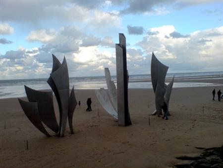 Omaha beach i Normandie