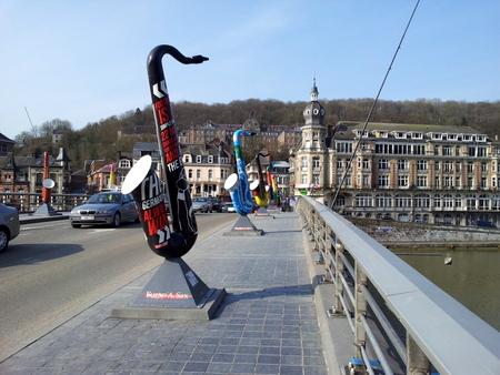 Saksofoner på Charles de Gaulle broen