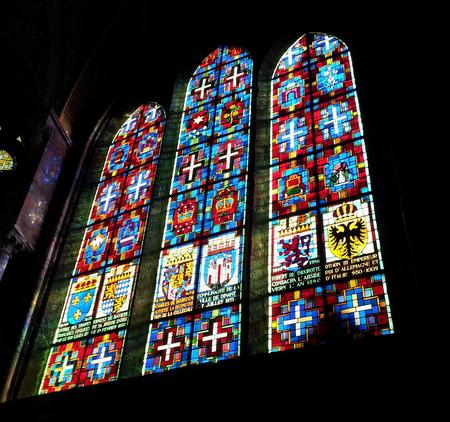 Glassmalerier i Notre Dame