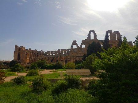 Amfiteateret sett fra baksiden