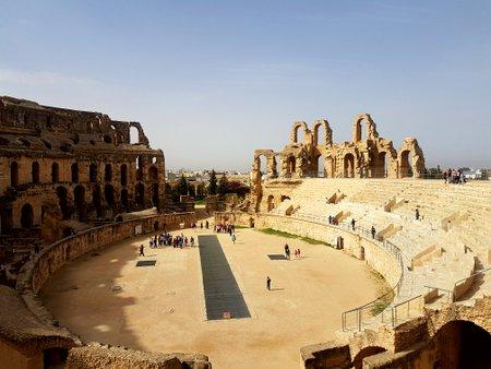 På innsiden av amfiteateret