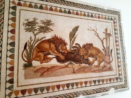 Mosaikk på det arkeologiske museet