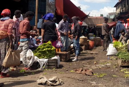 Gatemarked i Addis Abeba