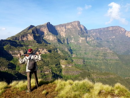 Scout i Simien Mountains
