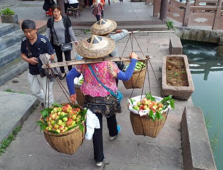 Fruktselgere i Fenghuang