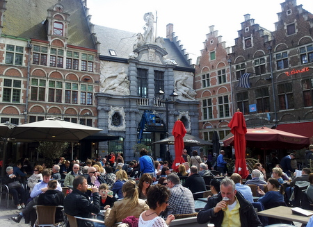 Uteservering i Gent