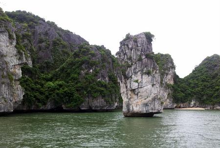 Klippe i Halong Bay