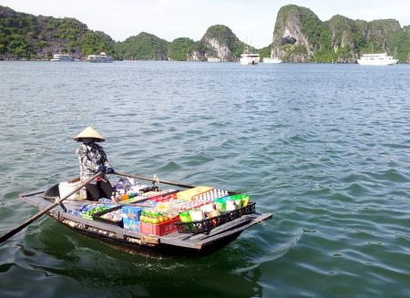 Vietnamesisk båtselger