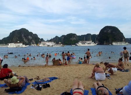 Strand i Halong Bay