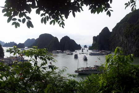 Utsikt over Halong Bay