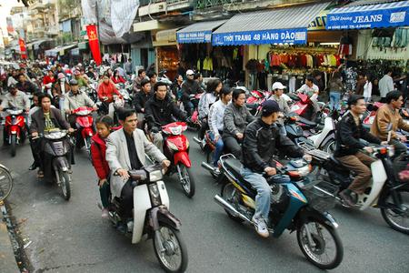 Mopeder i Hanoi