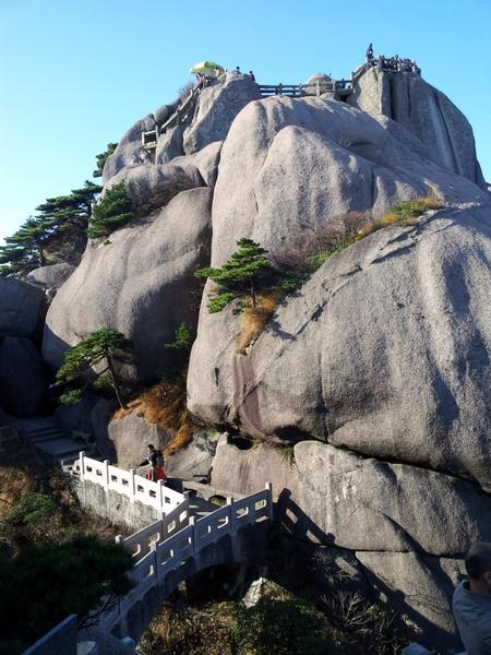 Topp på Huang Shan