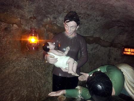 Fødestue i Vinh Moc tunnelene