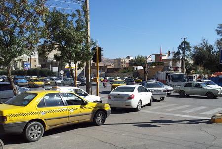 Trafikk i Shiraz