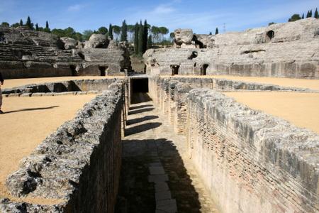 Inne på amfiteateret