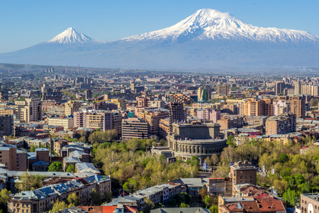 Jerevan med Ararat fjellet