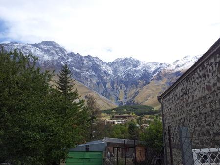 Utsikt fra Kazbegi