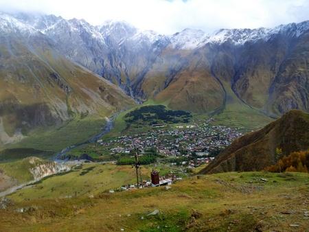 Utsikt over Kazbegi