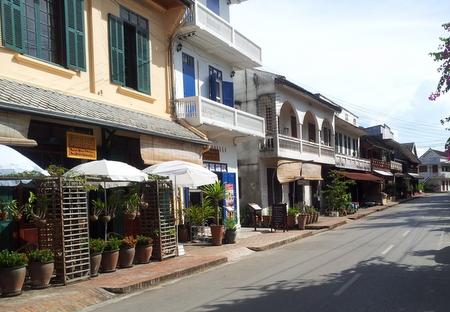 Gamle kolonivillaer i Luang Prabang