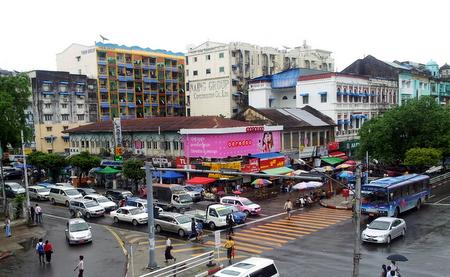 Trafikk i Yangon