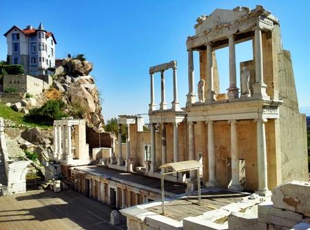 Det romerske amfiteateret i Plovdiv