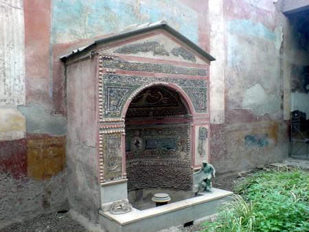 Pent dekorert fontene