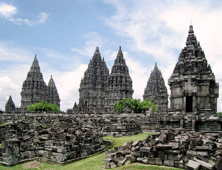 Hovedtemplene i Prambanan