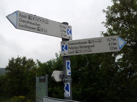 Veiskilt i Rhindalen
