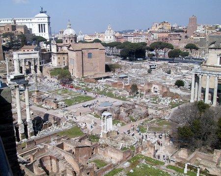 Utsikt over Forum Romanum
