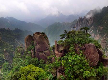 Landskap på Sanqing Shan