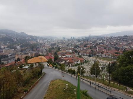 Utsikt fra gul festning i Sarajevo