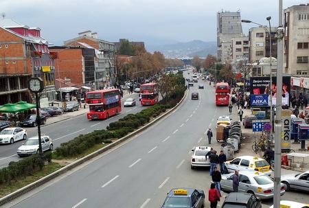 Dobbeltdekker-busser i Skopje