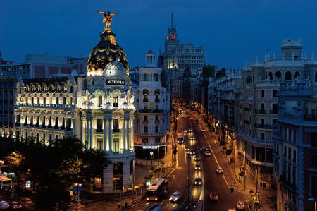 Madrid om natten