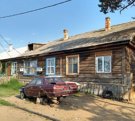 Trebebyggelse på Olkhon