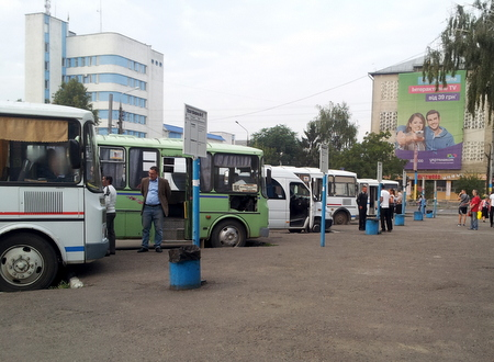 Bussterminalen i Tsjernivtsi