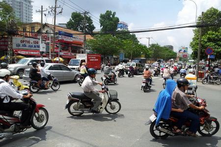 Mange scootere i Vietnam