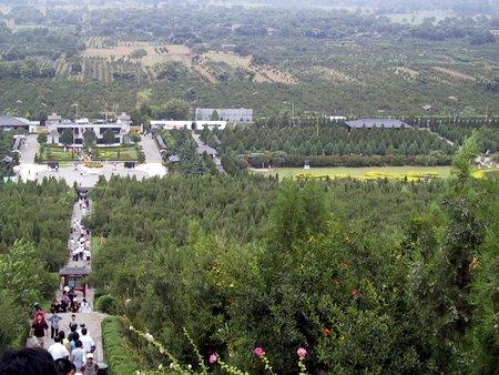 Utsikt fra toppen av den første keiserens grav