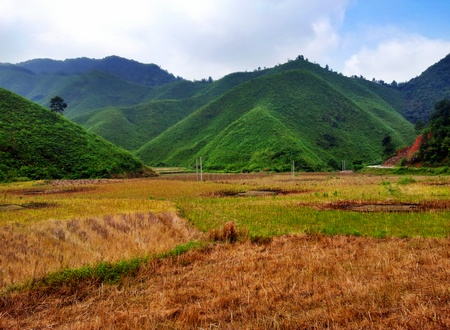 Landskap rett utenfor Xiao Likeng